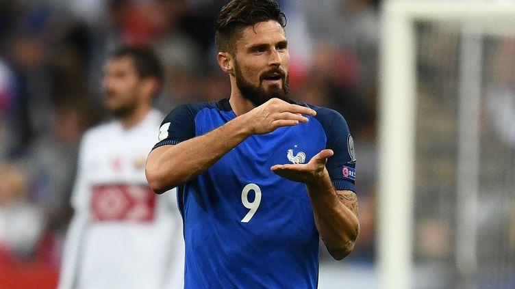 Olivier Giroud a inscrit le deuxième but face à la Biélorussie  (FRANCK FIFE / AFP)