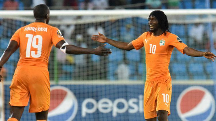 Gervinho et Yaya Touré, les deux fers de la lance de la Côte d'Ivoire dans cette CAN 2015.