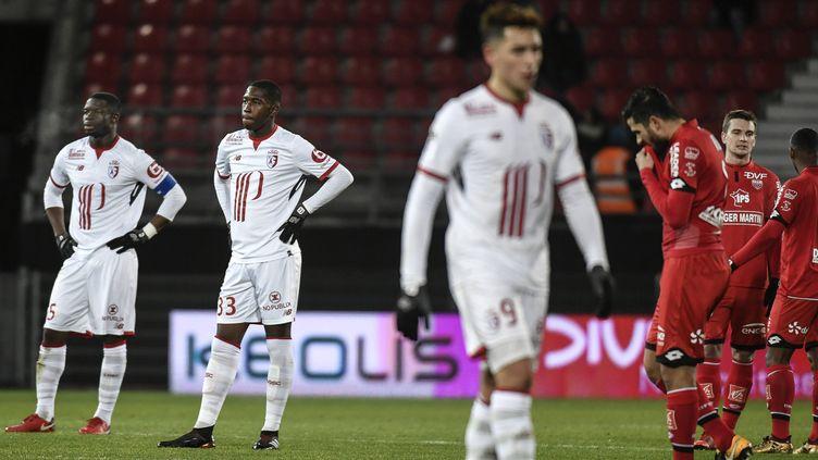 La déception des Lillois, corrigés à Dijon lors de la 18e journée de Ligue 1.
