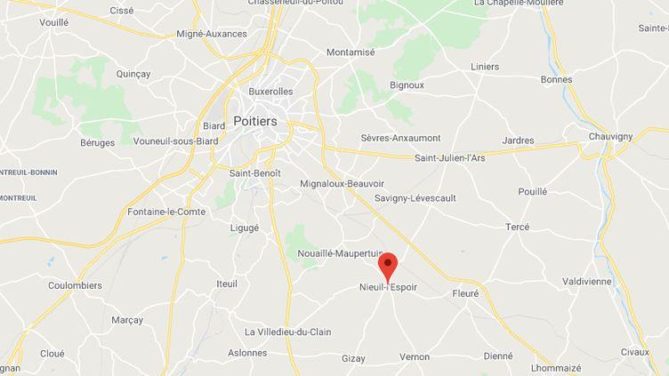 La commune deNieuil-l'Espoir (Vienne). (GOOGLE MAPS)