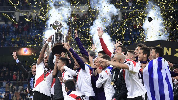 River Plate, champion 2018, soulève sa 4e Copa Libertadores (JAVIER SORIANO / AFP)