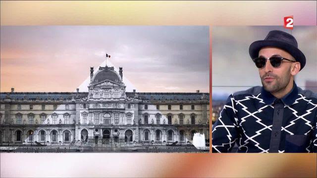 L'artiste JR fait disparaitre la pyramide du Louvre