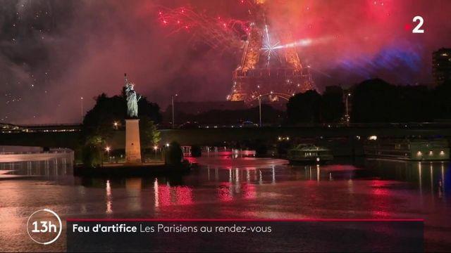 14 juillet : malgré l'interdiction, de nombreux Parisiens au spectacle du feu d'artifice
