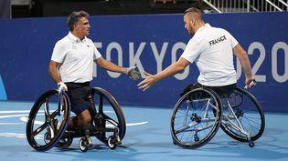 Stéphane Houdet et Nicolas Peiffer sont qualifiés pour la finale du double messieurs des Jeux Paralympiques de Tokyo. (France Paralympique)