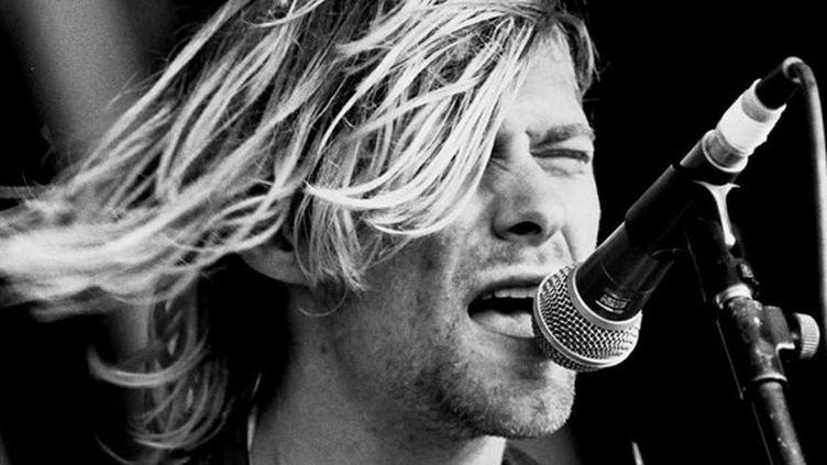 Kurt Cobain au festival de Reading, le 23 août 1991.  (Geoffrey Swaine / Rex F/REX/SIPA)