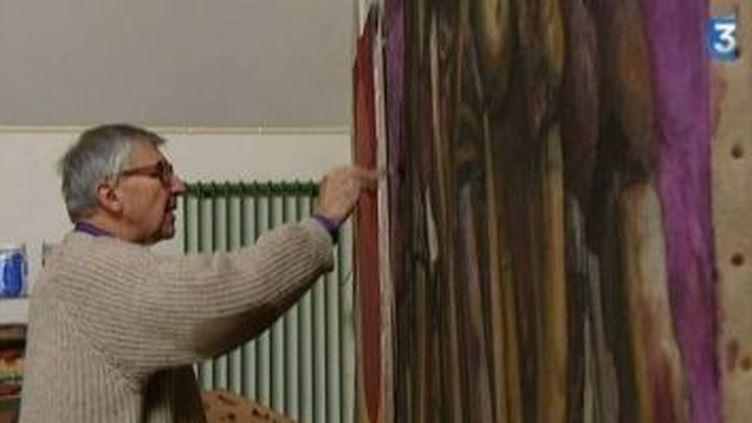 L'art du marouflage selon le peintre Claude Roucard  (Culturebox)