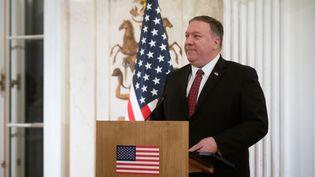 Le secrétaire d'Etat américain, Mike Pompeo, le 12 février 2019 en Pologne. (MATEUSZ WLODARCZYK / NURPHOTO / AFP)