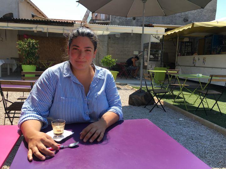 Laure Chevalier, conseillère régionale FN et conseillère municipale à Gignac-la-Nerthe (Bouches-du-Rhône), le 13 juin 2017. (MARGAUX DUGUET / FRANCEINFO)