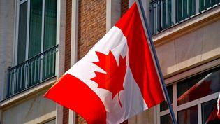 Illustration du drapeau du Canada. (SEBASTIEN JARRY / MAXPPP)