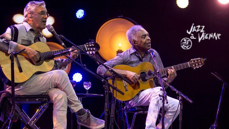 Caetano et Gil, à Vienne le 3 juillet 2015  (Jean-François Lixon)