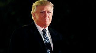 Donald Trump à Head of the Harbor (New-York, Etats-Unis), le 3 décembre 2016. Le républicain a remporté l'élection présidentielle dans le Michigan avec 10 000 voix d'avance sur Hillary Clinton. (MARK KAUZLARICH / REUTERS)
