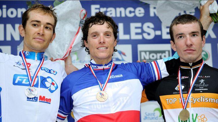 Jérémy Roy (à g.) et Sylvain Chavanel (au centre) devrait animer le Tour de France cette année