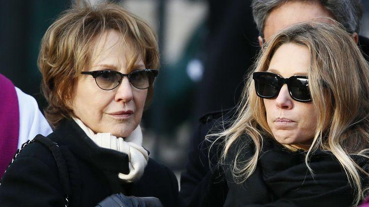 Nathalie Baye et Laura Smet aux obsèques de Johnny  (Francois Mori/AP/SIPA)