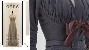 Robe du soir, printemps/été 1952 + robe de jour, automne-hiver 1953-1954  (Stéphane Piera/Galliera/Roger-Viollet. Design: Paul Boudens)
