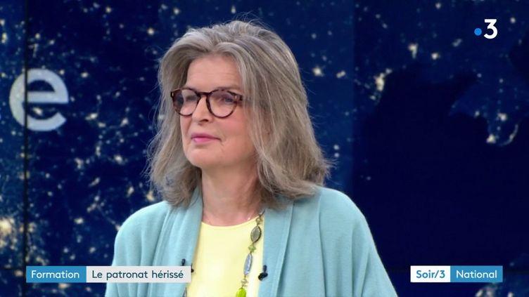 Florence Poivey, négociatrice du Medef sur la formation professionnelle (France 3)