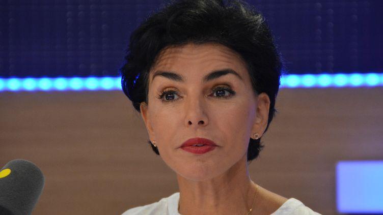 Rachida Dati, maire du 7e arrondissement de Paris, invitée sur franceinfo. (JEAN-CHRISTOPHE BOURDILLAT / FRANCE-INFO)