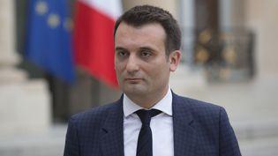 Florian Philippot, le vice-président du FN, le 25 juin 2016 à l'Elysée. (GEOFFROY VAN DER HASSELT / AFP)