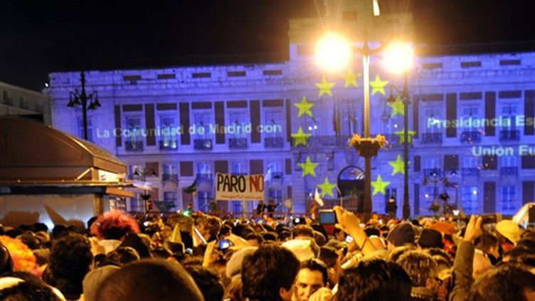 Madrid fête le Nouvel An et sa présidence de l'Union européenne (AFP/DOMINIQUE FAGET)