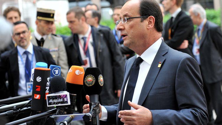 François Hollande, le 29 juin 2012, à Bruxelles (Belgique) pour le sommet européen. (GEORGES GOBET / AFP)
