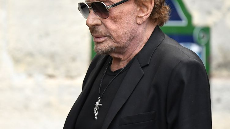 Johnny Hallyday, le 1er septembre 2017 à Paris. (ERIC FEFERBERG / AFP)