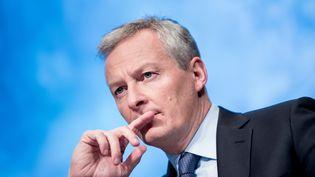 Le ministre de l'Économie Bruno Le Maire, le 20 avril 2018, à Washington (États-Unis). (BRENDAN SMIALOWSKI / AFP)