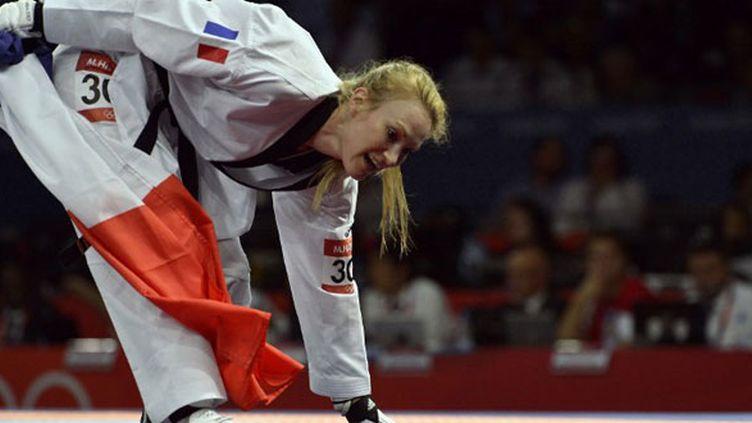 L'athlète française Marlène Harnois aux JO de Londres (2012)