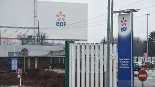 L'entrée de la centrale nucléaire de Fessenheim, dans le Haut-Rhin. (SEBASTIEN BOZON / AFP)