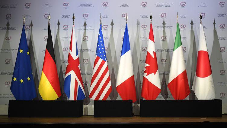 Le 5 avril 2019, à Dinard (Ille-et-Vilaine), lors d'une réunion pour préparer le sommet du G7 à Biarritz (Pyrénées-Atlantiques) du 24 au 26 avril 2019. (DAMIEN MEYER / AFP)