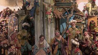 Des santons à Naples, en Italie. (CAPTURE ECRAN FRANCE 2)