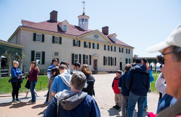 La résidencedu premier président des Etats-Unis, George Washington, à Mount Vernon, en Virginie (Etats-Unis), le 18 avril 2018. (SAUL LOEB / AFP)