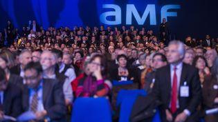 Le 96e congrès des maires de France au parc des expositions de Paris, le 21 novembre 2013. (MAXPPP)