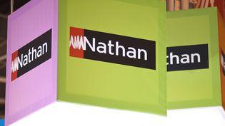 L'éditeur Nathans'est excusé et a promis de modifierun exercice de mathématiques prenant des migrants comme exemple, le 15 septembre 2017. (NATHAN ALLIARD / AFP)