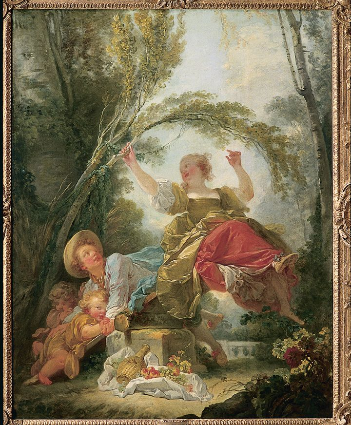 "Element du tableau ""La Bascule"" de Fragonard (AGLILEO COLLECTION / AGLILEO)"