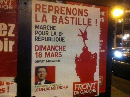 Vue sur l'affiche appelant au rassemblement du 18 mars 2012. (CR)