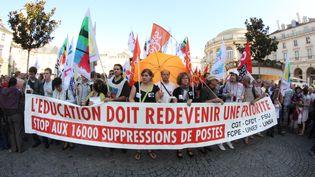 Une manifestation d'enseignants à Rennes, le 27 septembre 2011. (ALEXANDRE-B / CITIZENSIDE)
