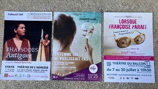 Trois spectacles dans le Festival Off d'Avignon 2021 (FRANCEINFO)