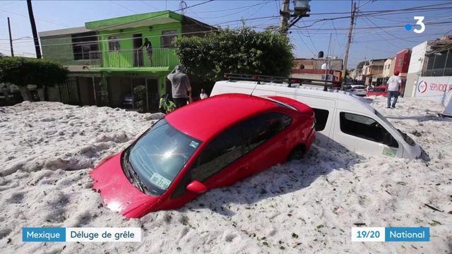 Mexique : la ville de Guadalajara recouverte par la grêle
