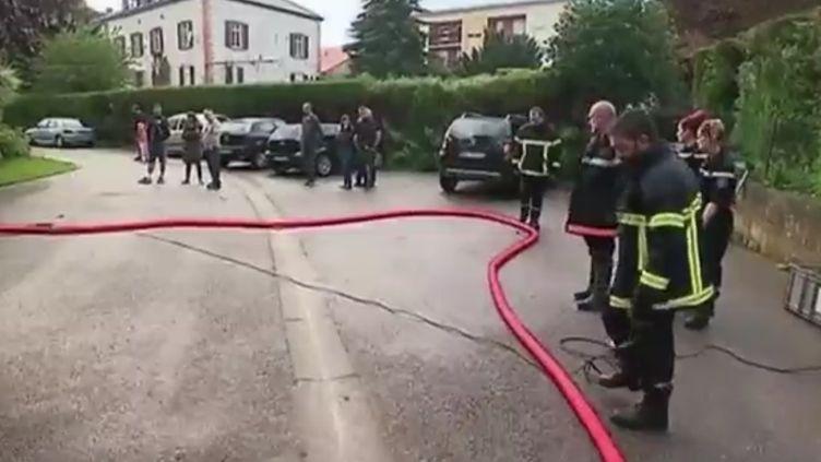 Pompiers de Moselle, intempéries en juin 2018. (FRANCE 2)