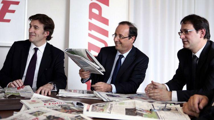 François Hollande.  (FRANCK SEGUIN / L'EQUIPE)
