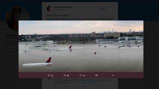 Une image présentée à tort comme étant l'aéroport de Houston après le passage de l'ouragan Harvey, le 26 août 2017. (MAGA WOMEN / TWITTER)