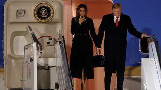 Donald et Melania Trump arrive à l'aéroport d'Orly, le 9 novembre 2018. (CHRISTIAN HARTMANN / REUTERS)