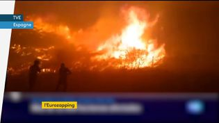 Un feu ravage le centre de l'Espagne (FRANCEINFO)