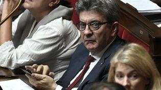Jean-Luc Mélenchon à l'Assemblée nationale le 16 octobre 2018. (STEPHANE DE SAKUTIN / AFP)