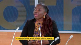La députée LFI Danièle Obono était l'invitée de VIPol. (FRANCEINFO)