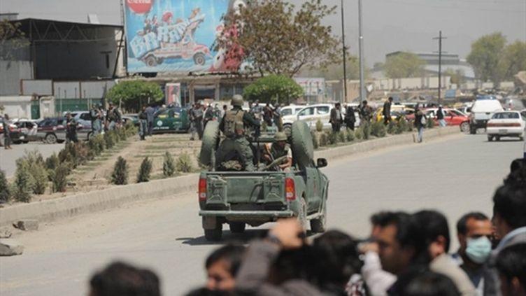 Après l'attentat contre le ministère de la Défense à Kaboul le 18 avril 2011 (AFP - Massoud HOSSAINI)