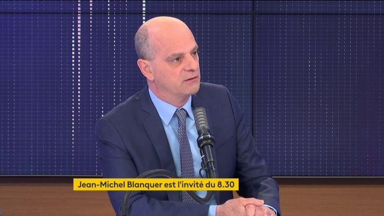 Jean-Michel Blanquer, le ministre de l'Éducation, était l'invité de franceinfo vendredi 23 avril 2021. (FRANCEINFO / RADIO FRANCE)
