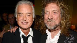 Jimmy Page et Robert Plant en octobre 2012 à New York  (Kevin Mazur / GETTY IMAGES NORTH AMERICA / AFP)