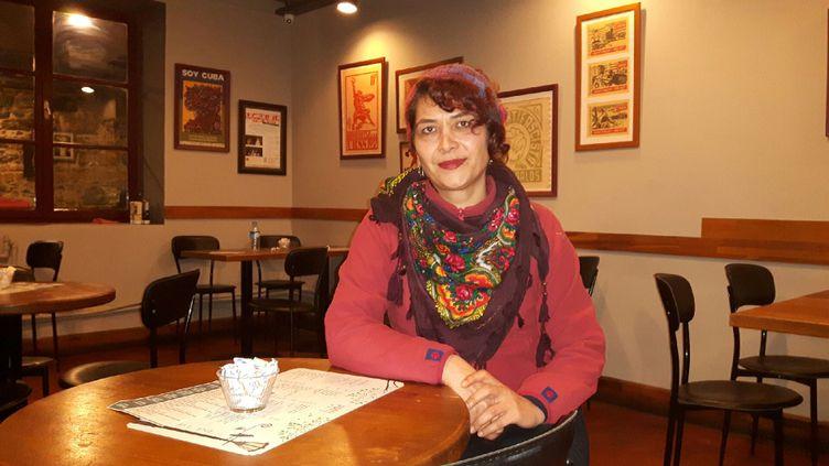 Naciye était infirmière dans un centre de soin d'Istanbul jusqu'au 29 octobre dernier. Elle vit depuis un véritable cauchemar social. (JÉRÔME JADOT / RADIO FRANCE)