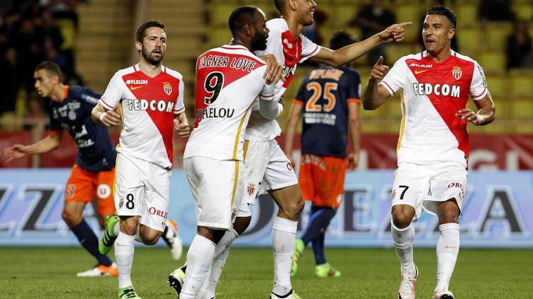 Monaco face à Montpellier lors de la saison 2015/2016.
