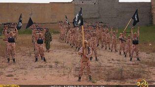 Un camp d'entraînement du groupe Etat islamique à Tal Afar (Irak), sur une photo publiée, en avril 2015, sur un site internet jihadiste. (SIPA / AP)